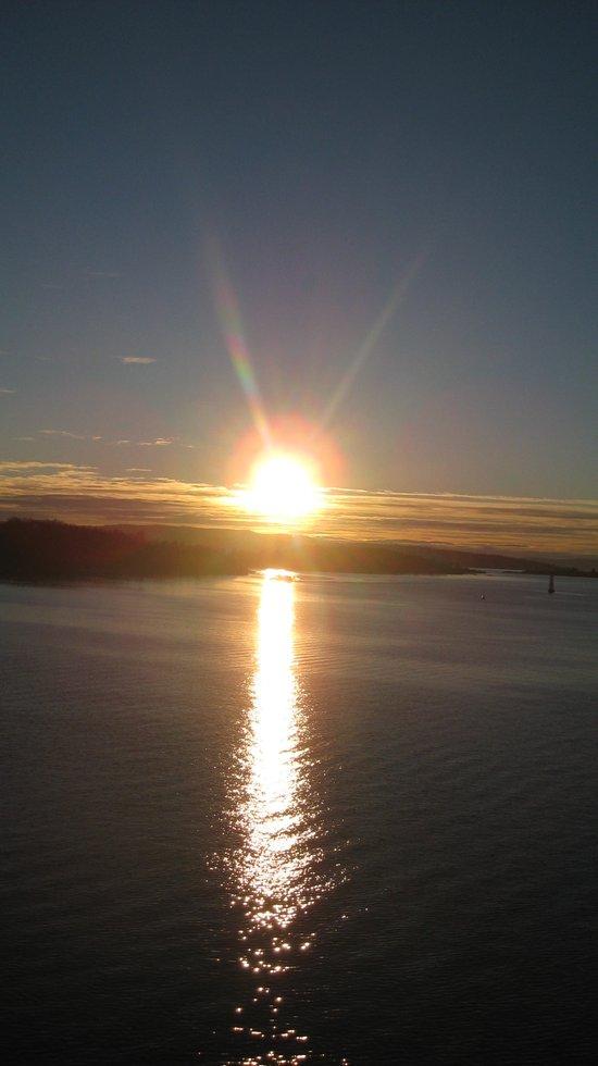 The sun is setting Art Print