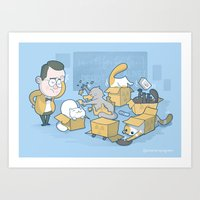 Schroedinger's cats are doing it wrong Art Print