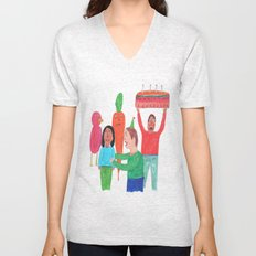 Happy Birthday! Unisex V-Neck