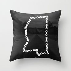 Ride Statewide - Mississippi Throw Pillow