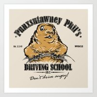 Punxsutawney Phil's Driv… Art Print