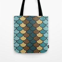 Shelled Teal Tote Bag