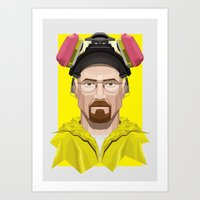 Breaking Bad - Walter White in Lab Gear Art Print