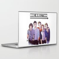 one direction Laptop & iPad Skins featuring One Direction by Gianbe