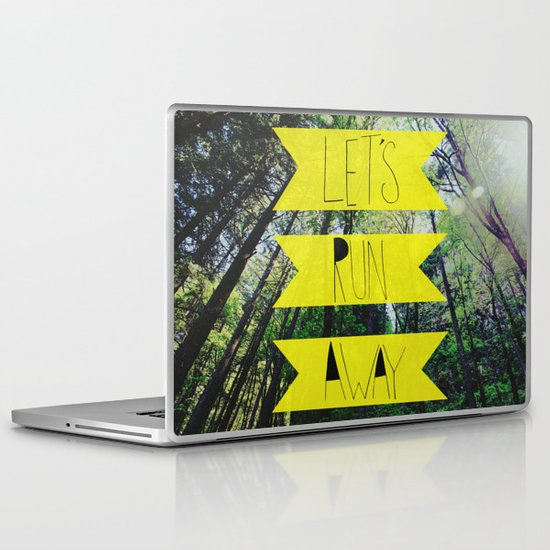 Let's Run Away: Forest Park Laptop & iPad Skin