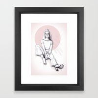 Sit down Framed Art Print