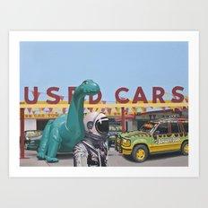 Jurassic Parking Lot Art Print