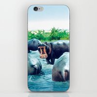 hippos iPhone & iPod Skin