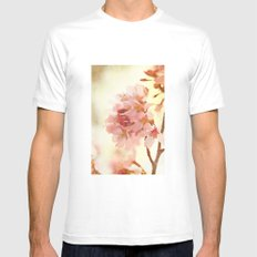 Soft and Breezy White Mens Fitted Tee SMALL