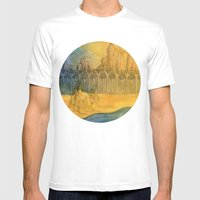 Sand Castle Mens Fitted Tee White SMALL