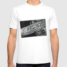 X-Wing Fighter SMALL Mens Fitted Tee White