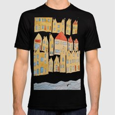 this town SMALL Mens Fitted Tee Black