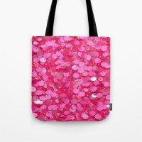 Pink Glitter Tote Bag