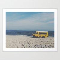Kismet Beach Bus Art Print