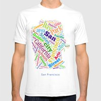 Word Cloud - San Francisco Mens Fitted Tee White SMALL