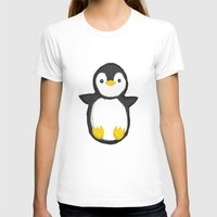 penguin T-shirts featuring penguin by Julie Zhang
