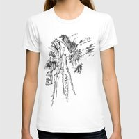 native american T-shirts featuring Native American by Sandy Elizabeth