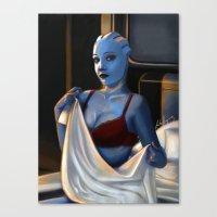 Mass Effect - Red Linger… Canvas Print