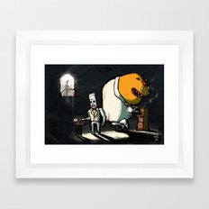 Use Verb on Noun #11: Grim Fandango Framed Art Print