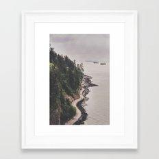 Vancouver Seawall Framed Art Print