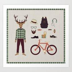 Deer Boy Art Print