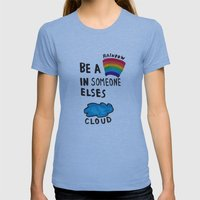 Be A Rainbow Womens Fitted Tee Athletic Blue SMALL