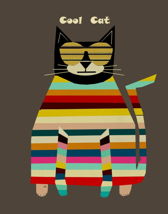 cool cat Art Print