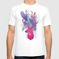 Antlers Variation II Mens Fitted Tee White SMALL