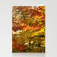 Forest Foliage In Autumn Stationery Cards