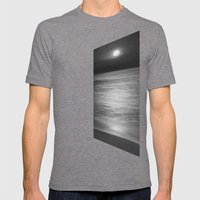 Full Moon in Aquarius -- SuperMoon 07/22/2013 - Wrightsville Beach NC Mens Fitted Tee Tri-Grey SMALL