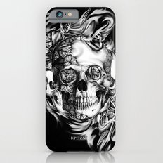 Butterfly smoke skull on black base.  Slim Case iPhone 6s