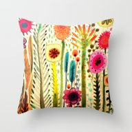 Throw Pillow featuring Printemps by Sylvie Demers