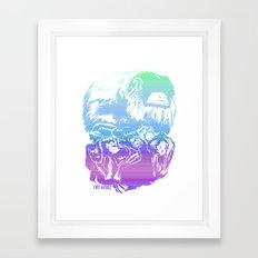Monkeys in living Color Framed Art Print