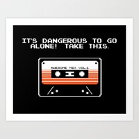 TAKE THIS TAPE (Zelda & … Art Print