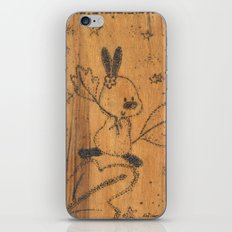 Cute little animal on wood iPhone & iPod Skin