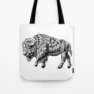 Tote Bag featuring Bison by BIOWORKZ