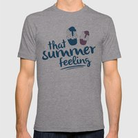Ice cream pattern - light blue Mens Fitted Tee Athletic Grey SMALL