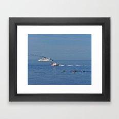 Fun on the Sea Framed Art Print
