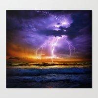 Illusionary Lightning Canvas Print