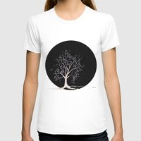 Dark elven tree Womens Fitted Tee White SMALL