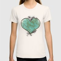 Heart #3 Womens Fitted Tee Natural SMALL