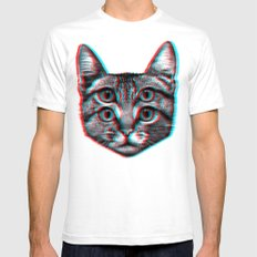 Cat 3D Mens Fitted Tee White SMALL