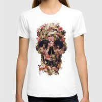 skull T-shirts featuring Jungle Skull by Ali GULEC
