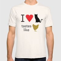 I Heart Cats Mens Fitted Tee Natural SMALL