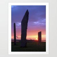 Stenness Sunset Art Print
