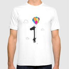 The Happy Flight White SMALL Mens Fitted Tee