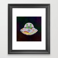 They Come In Peace Framed Art Print
