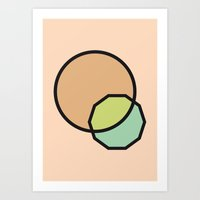 Shapes Illustration Art Print