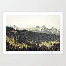 Epic Drive through the Mountains Art Print