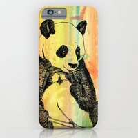 iPhone & iPod Case featuring Panda Trip by mendydraws